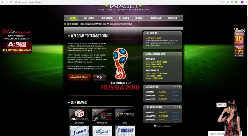 Cara daftar bola online